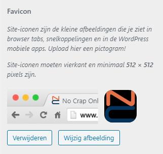 Favicon in WordPress in Customizer