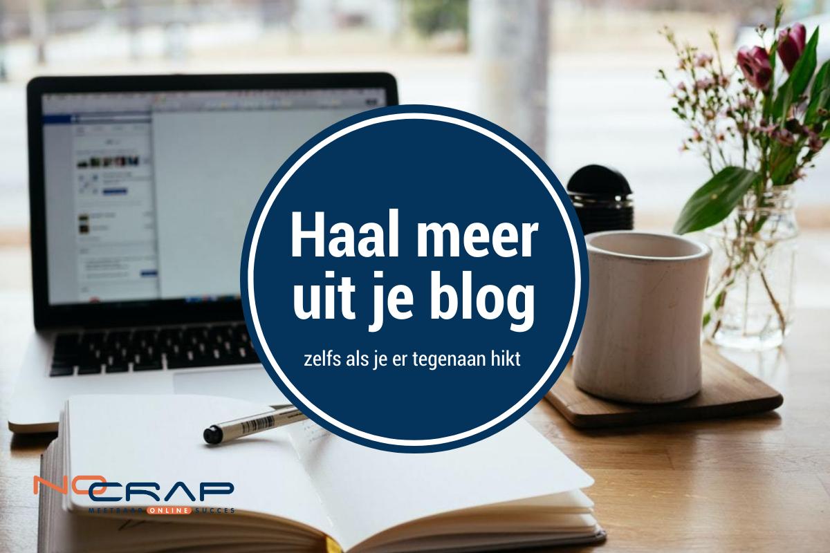 No crap online - haal meer uit je blog